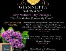 May Mothers Day Specials!