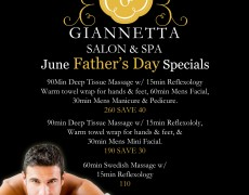 Father's Day Specials Now Available for the Month of June