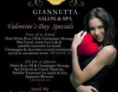 Valentine's Day Specials Now Available
